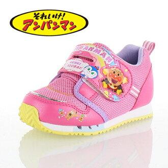 上啊!麵包超人MoonStar MOONSTAR APM C137粉紅PINK小孩跑步鞋運動鞋尼龍粘鏈