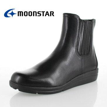 ムーンスター スポルス moonstar sporth 靴 SP1778WP 1778 ブーツ サイドゴア ショートブーツ 防水設計 3E 黒 ブラック レディース セール