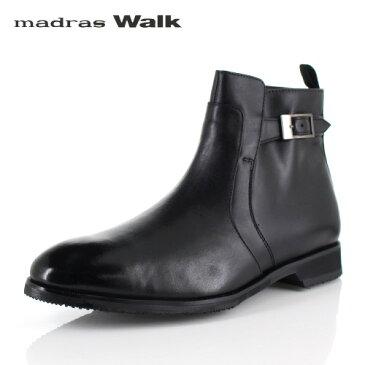 マドラスウォーク ゴアテックス madras Walk SPMW8007 BLA メンズ ドレスブーツ ビジネスシューズ 防水 防滑 革靴 4E ブラック