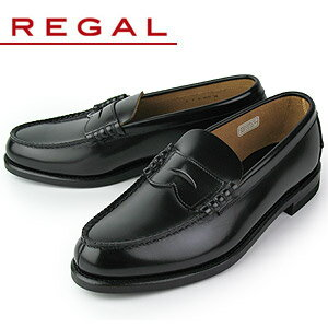 ★10%OFF★リーガルREGAL2177Nブラックメンズローファー靴送料無料