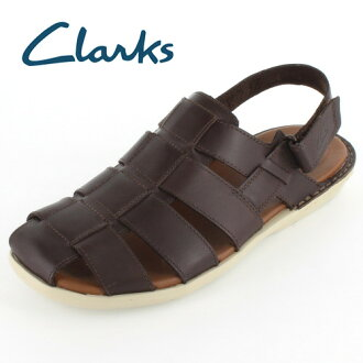 ★ 30%的折扣 ★ Clarks 男士 Clarks Pilyflex 太陽 polyphlexsan 537E DarkBrownLeather AE 涼鞋