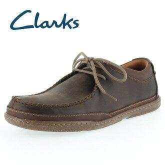 克拉克人Clarks Trapell Pace 637E toraperupesu Dark Brown Leather正規的物品休閒鞋