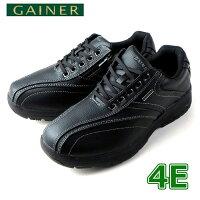 靴ウォーキングシューズメンズGAINERゲイナーGN003ブラックスニーカーコンフォートシューズ4E
