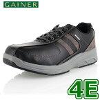 靴 ウォーキングシューズ メンズ GAINER ゲイナー GN012 ブラック スニーカー コンフォートシューズ 4E