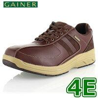 靴ウォーキングシューズメンズGAINERゲイナーGN012ブラックスニーカーコンフォートシューズ4E
