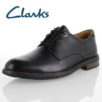克拉克人Clarks Unelott Plain 615E UN erottopurein Black Leather正規的物品休閒鞋