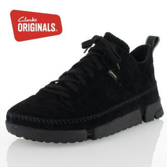 克拉克原始物人Clarks ORIGINALS Trigenicdrygtx 647E toraijienikkudoraigoatekkusu Black Suede正規的物品休閒鞋