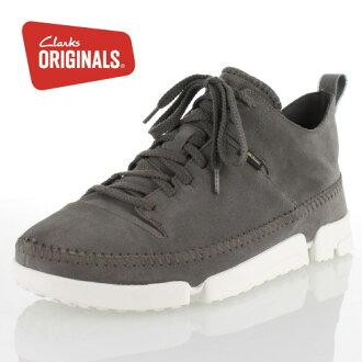 克拉克斯原件男式 Clarks 原件 Trigenicdrkgtx 647E trigenic 干戈爾特斯 Darkgrek 麂皮絨真正休閒鞋