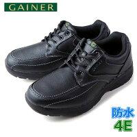 靴ウォーキングシューズメンズGAINERゲイナーGN001ブラックスニーカーコンフォートシューズ4E防水