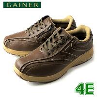 靴ウォーキングシューズメンズGAINERゲイナーGN003オリーブスニーカーコンフォートシューズ4E