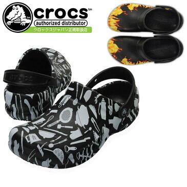 crocs クロックス bistro graphic clog ビストロ グラフィック クロッグ 204044 レディース メンズ サンダル ブラック 黒 マルチカラー セール