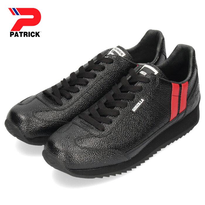 パトリック スニーカー ゴジラ マラソン PATRICK MARATHON ゴジラ-M BLK 719501 ブラック メンズ レディース 靴 日本製画像