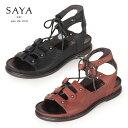 SAYA サンダル サヤ ラボキゴシ 50162 本革 レースアップ ギリー 靴 レディース セール