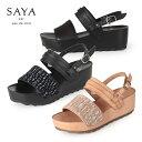 SAYA サンダル サヤ ラボキゴシ 50165 本革 厚底 靴 バックストラップ レディース セール