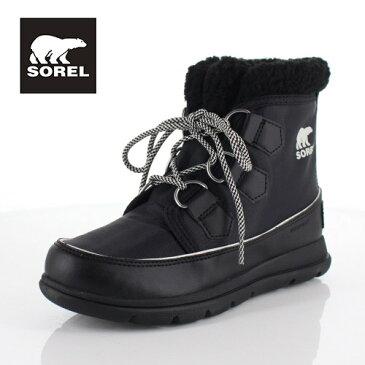 ソレル SOREL NL3040 010 レディース ブーツ エクスプローラーカーニバル Explorer Carnival ブラック 防水 軽量 保湿性 ショートブーツ