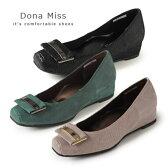 コンフォート パンプス ローヒール Dona Miss ドナミス 4035 ワイズ 3E 本革 コンフォートシューズ レディース 靴