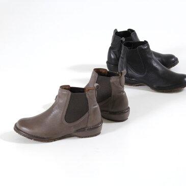コンフォートブーツ Dona Miss ドナミス 3197 撥水 ブーツ 本革 サイドゴアブーツ レディース ショートブーツ 靴 3E ワイズ 25.5cm 26cm 大きいサイズ