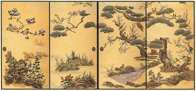 徳川美術館コレクション襖紙四季花鳥 ふすま紙