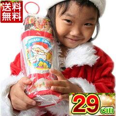 クリスマスブーツ 銀29cmお菓子入り/クリスマスブーツ/クリスマス/ブーツ/お菓子/サンタ/サン...