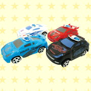 スーパーポリスカー おもちゃ プルバック ミニカー