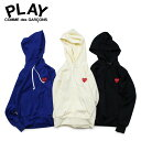 COMME des GARCONS PLAY RED HEART PATCH ZIP HOODED SWEATSHIRT コムデギャルソン パーカー プルオーバー スウェット レディース P1T173 AZ-T173
