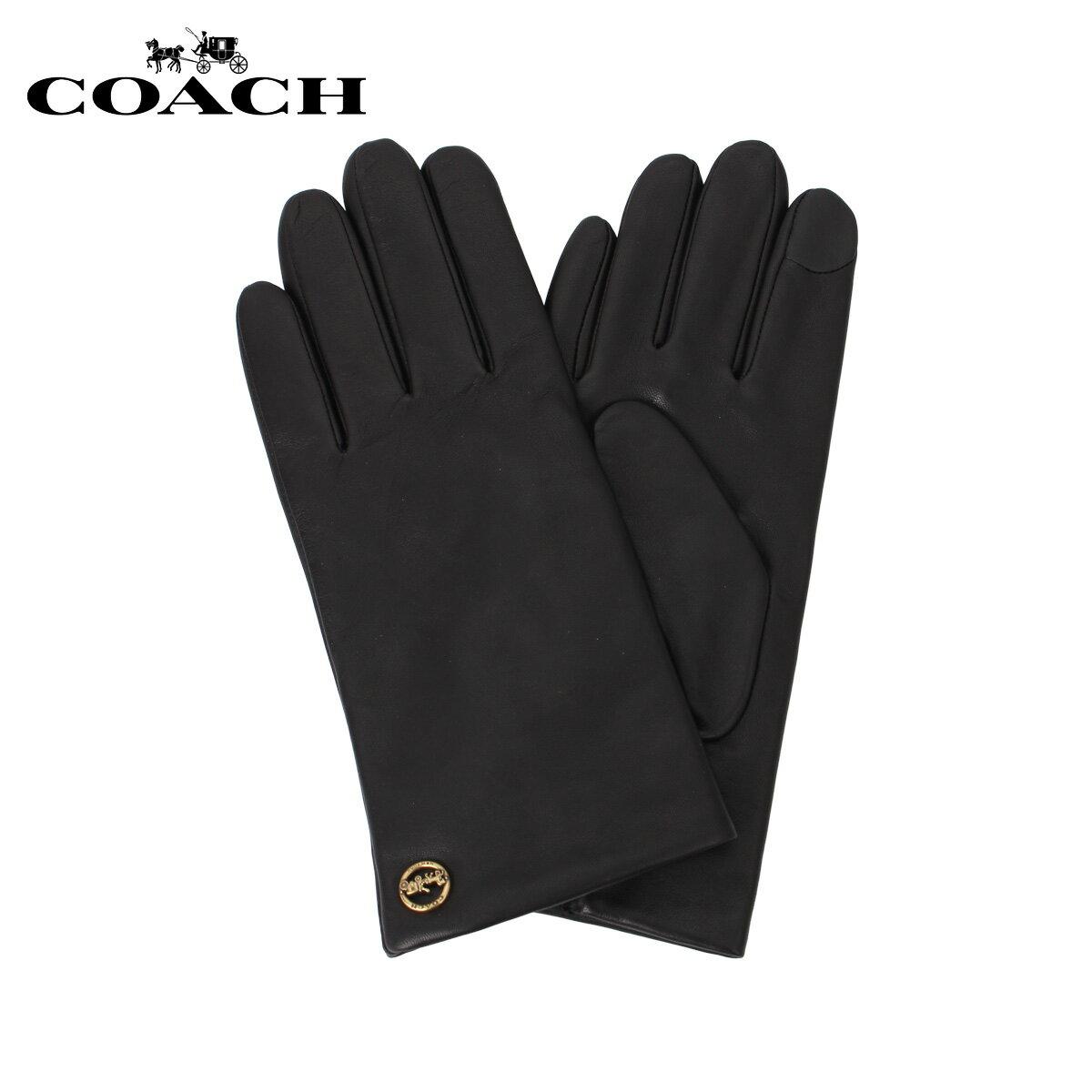 手袋・アームウォーマー, レディース手袋 COACH F76310-BLK