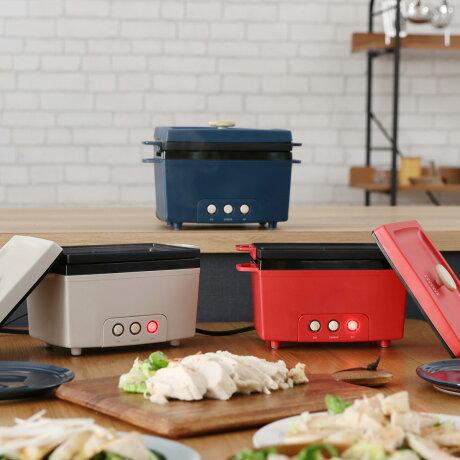 PRISMATE PR-SK023 プリズメイト サラダチキンメーカー サラチキ 簡単 宅トレ 簡単調理 時短料理 パーティー 北欧 キッチン家電 ネイビー ライト ベージュ レッド