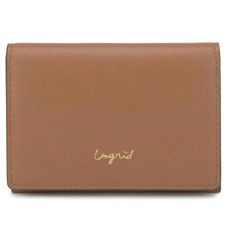 Ungrid SMOOTH CARD CASE アングリッド カードケース 名刺入れ 定期入れ レディース ブラック ホワイト ベージュ カーキ ブラウン ワイン レッド 黒 白 UNG-51780