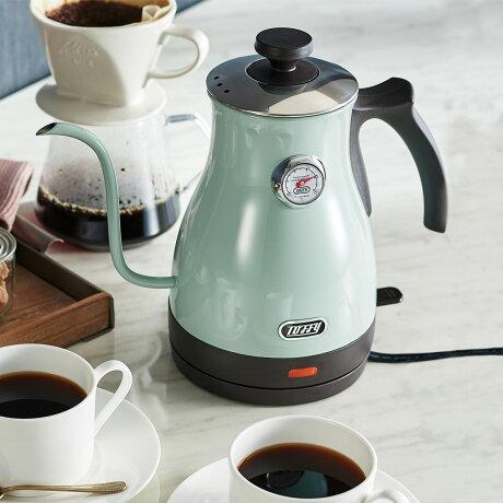 Toffy K-KT3 トフィー 電気ケトル カフェケトル 湯沸かし器 1L 保温 コーヒー 軽量 一人暮らし キッチン 家電 レトロ ラドンナ LADONNA
