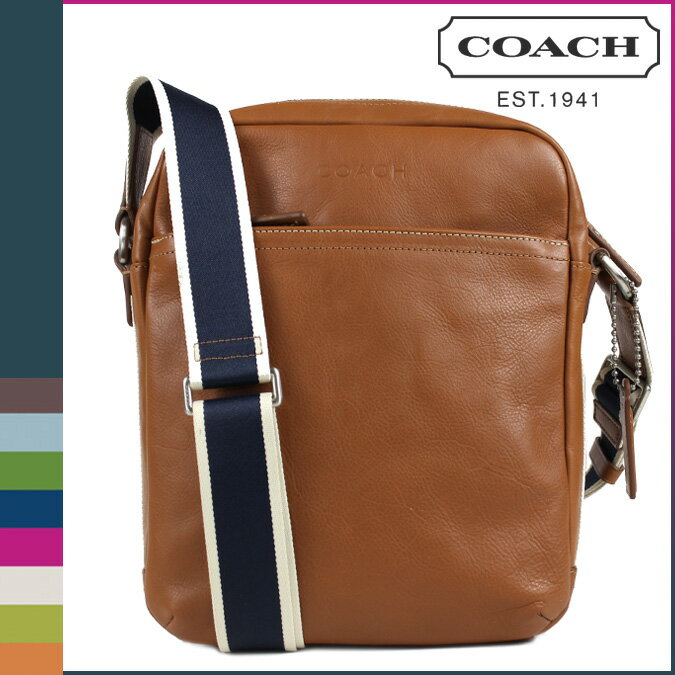 [SOLD OUT] COACH コーチ メンズ ショルダーバッグ フライトバッグ  F70813 サドル:Whats up Sports