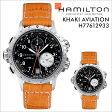 ハミルトン HAMILTON 腕時計 カーキ アビエーション メンズ 時計 42mm レザー KHAKI AVIATION ETO QUARTZ H77612933 ブラック 防水 [ あす楽対象外 ]