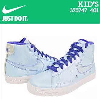 NIKE耐吉小孩BLAZER MID PS運動鞋運動衣中間375747-401藍色西裝夾克