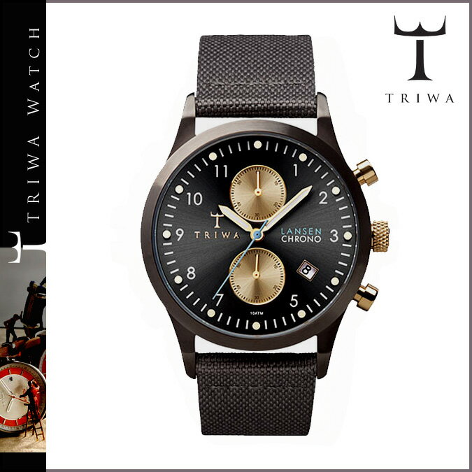 [SOLD OUT] TRIWA トリワ 腕時計 ブラック グレー  WALTER LANSEN CHRONO GREY CLASSIC CANVAS LCST101  メンズ レディース:Whats up Sports