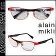 alain mikli アランミクリ メガネ 眼鏡 レッド ブラック メタルフレーム メンズ レディース