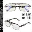 alain mikli アランミクリ メガネ 眼鏡 メタルフレーム AL1223-MOBG パープル メンズ レディース