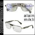 alain mikli アランミクリ メガネ 眼鏡 メタルフレーム AL1222-M0BB シルバー グレー メンズ レディース