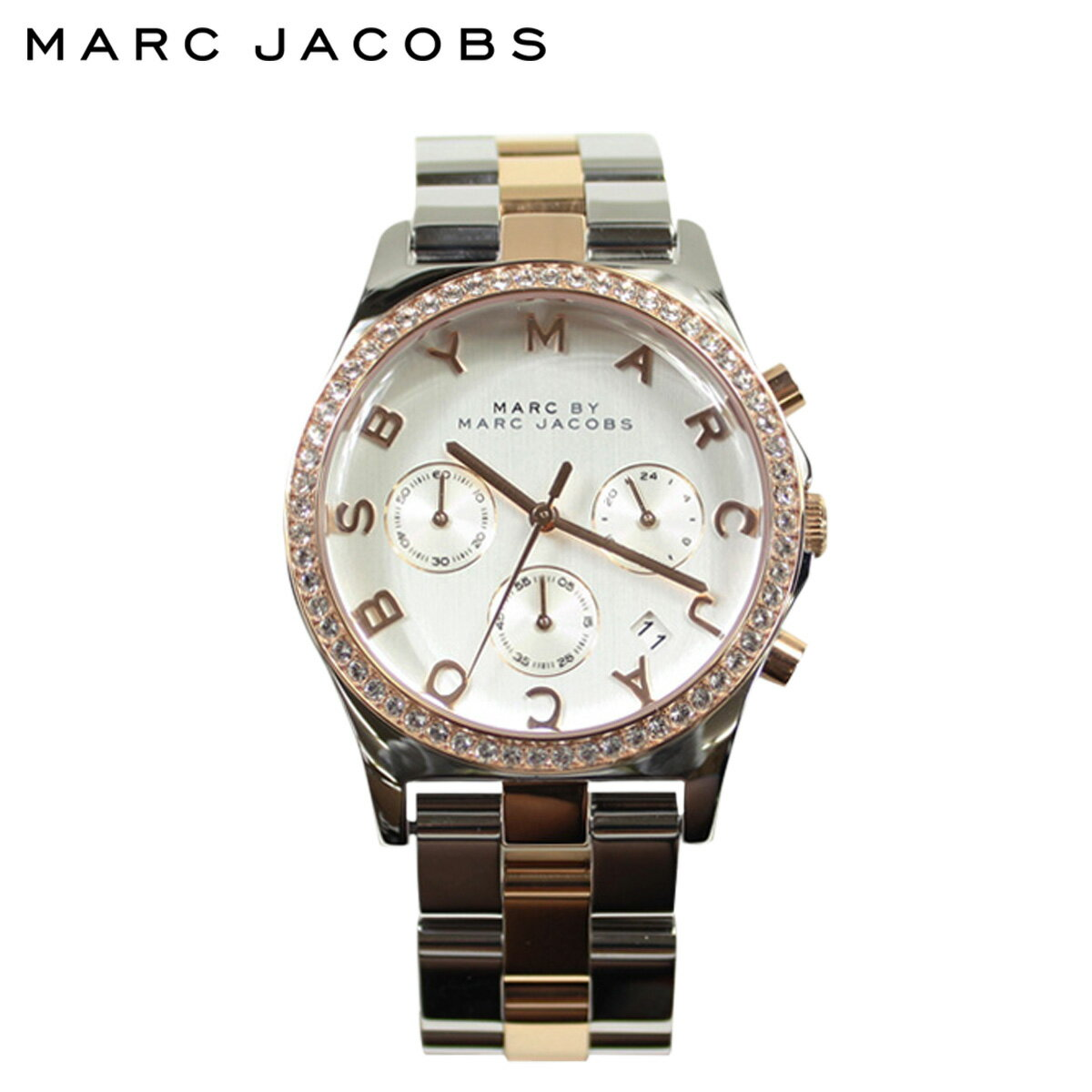[SOLD OUT] MARC BY MARC JACOBS マーク バイ マーク ジェイコブス 腕時計  38mm ウォッチ 時計 シルバー ピンクゴールド MBM3106 HENRY ヘンリー  メンズ レディース:Whats up Sports