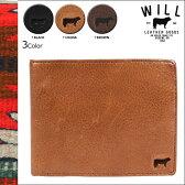 WILL LEATHER GOODS ウィルレザーグッズ 財布 二つ折り財布 革 レザー 26345 3カラー BARNARD BILLFORD メンズ