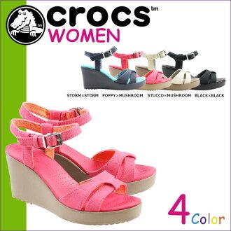 點 10 x 鱷魚鱷魚女式 REI 涼鞋楔形楔形涼鞋 LEIGH 涼鞋楔 W 交叉光 200098 4 色 [5 / 13 新股] [定期] 10P30May15