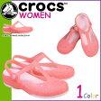 crocs クロックス レディース カーリー アニマル ウェーブ メリージェーン サンダル CARLIE ANIMAL WAVE MJ クロスライト 15091 ピンクレモネード