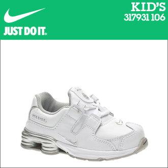 耐吉NIKE運動鞋嬰兒小孩SHOX NZ PLUS TD 317931-106鞋白