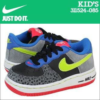 Nike 耐克嬰兒孩子空軍 1 TD 運動鞋空軍 1 蹣跚學步校園初中孩子嬰兒學步車 314194-066 黑灰色雷神托爾