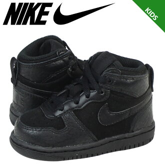 耐吉NIKE運動鞋嬰兒小孩BIG NIKE HIGH LE TD 344574-002鞋黑色