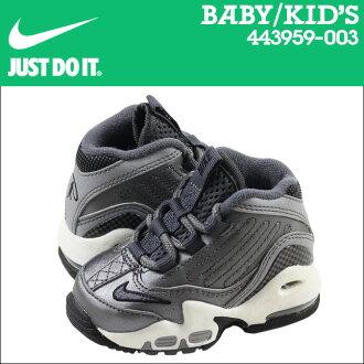 暗灰色耐克寶貝孩子空氣 GRIFFEY MAX 2 TD 運動鞋空氣 Griffey Max 蹣跚學步網初中孩子嬰兒學步車 443959-003