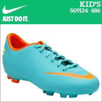 NIKE耐吉足球釘鞋足球鞋小孩MERCURIAL VICTORY 3 FG PS 509134-486老式
