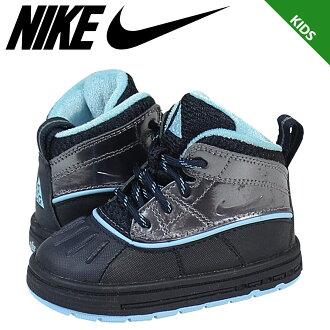 Nike 耐克嬰兒孩子 2TD 伍德賽德伍德賽德 2 運動鞋蹣跚學步橡膠初中孩子嬰兒學步車 524878 400 黑藍色