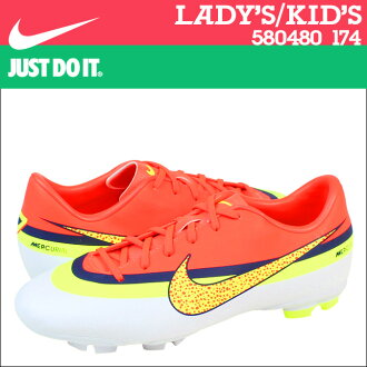 NIKE耐吉足球釘鞋足球鞋女士小孩MERCURIAL VICTORY 4 FG GS PS 580480-174柳丁