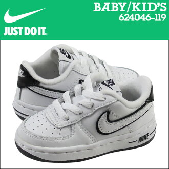 點 2 x 耐克寶貝孩子力 1 TD 運動鞋力 1 蹣跚學步皮革初中孩子嬰兒學步車 624046 119 黑白色
