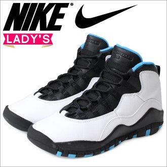 耐吉空氣喬丹女士NIKE運動鞋AIR JORDAN 10 RETRO GS空氣喬丹重新流行310806-106鞋白[12/16新進貨]
