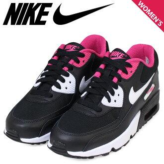 耐吉空氣最大女士NIKE運動鞋AIR MAX 90 MESH GS空氣最大833340-002鞋黑色[1/24補充進貨]